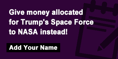 Give money allocated for Trump's Space Force to NASA instead!